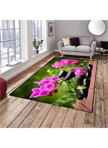 Halı Spa Çiçek Modern Dekoratif Mutfak 3D Salon Halıları 80X150Cm Renkli